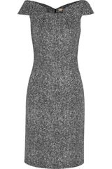 Michael Kors Origami-folded Wool-tweed Dress - Lyst