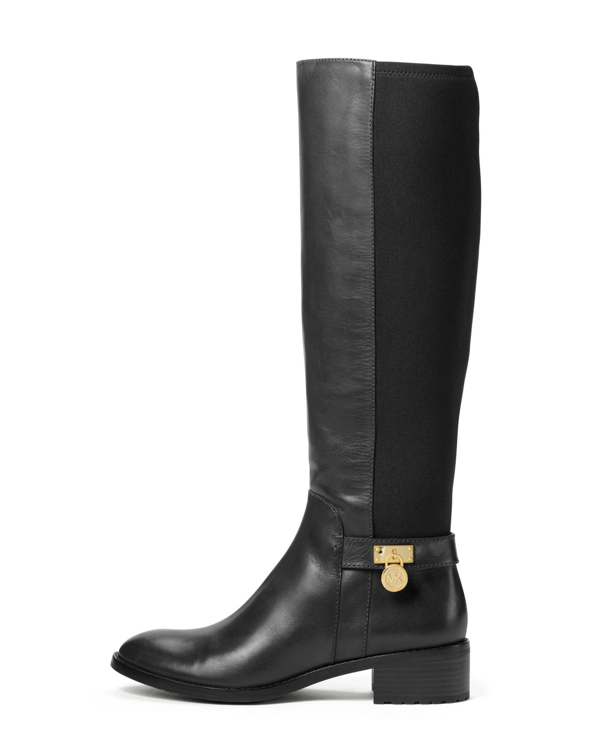 0361322bcd46 Lyst - Michael Kors Michael Hamilton Stretch Knee Boot in Black