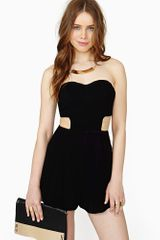 Nasty Gal Innocent Kisses Romper - Lyst