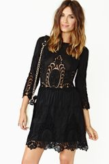 Nasty Gal Valentina Crochet Dress Black - Lyst