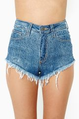 Nasty Gal Cracked Cutoff Shorts - Lyst