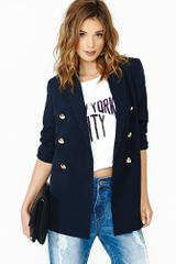 Nasty Gal Life Of Leisure Blazer - Lyst