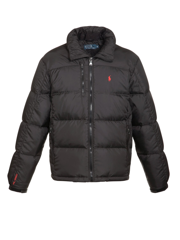 polo ralph lauren rl250 puffer jacket in black for men lyst. Black Bedroom Furniture Sets. Home Design Ideas
