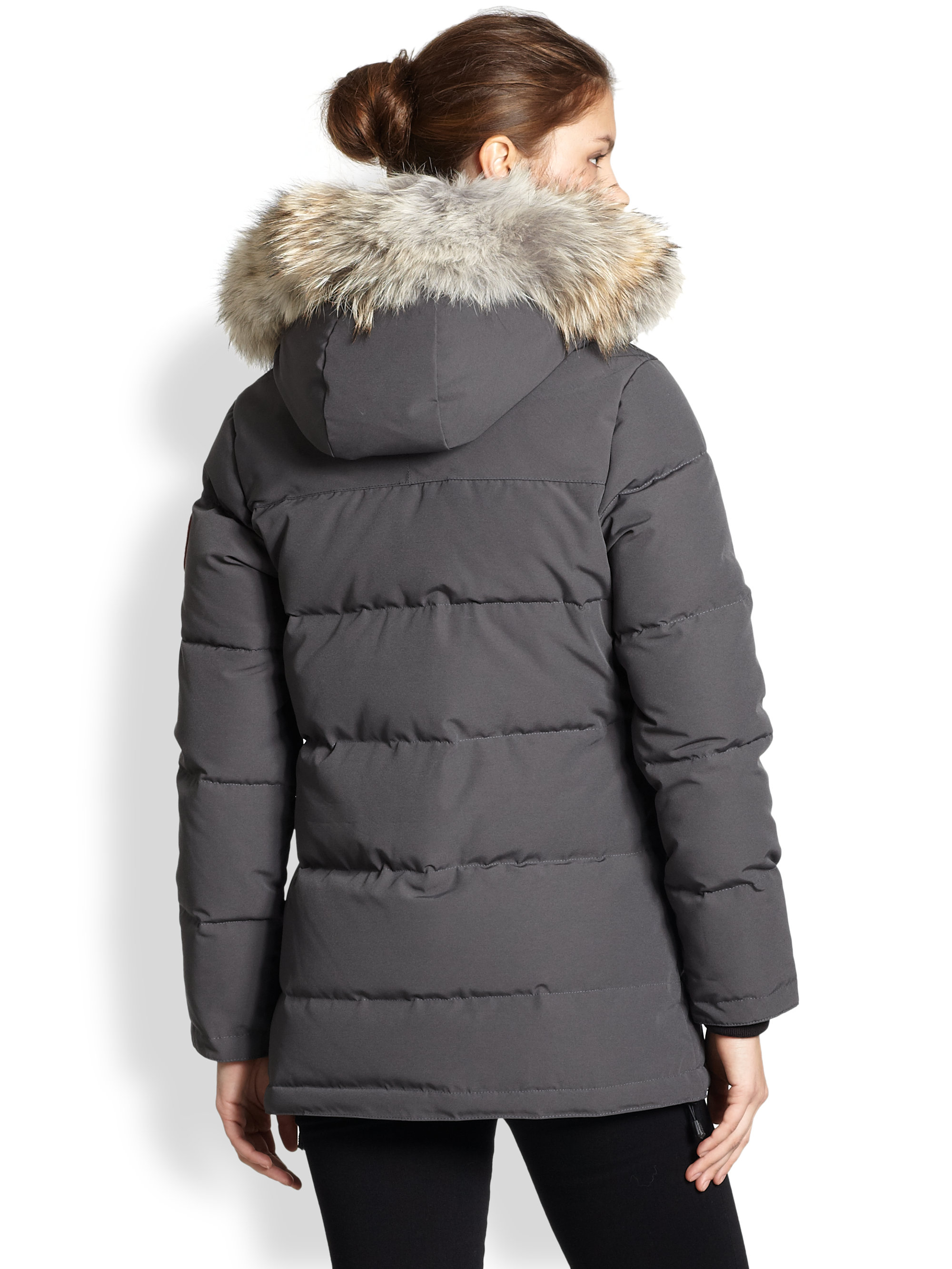 Canada Goose victoria parka outlet store - Canada goose Fur-trimmed Down-filled Solaris Puffer Jacket in Gray ...
