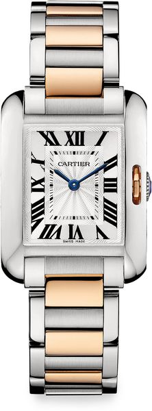 Cartier 18k Pink Gold Stainless Steel Watch - Lyst