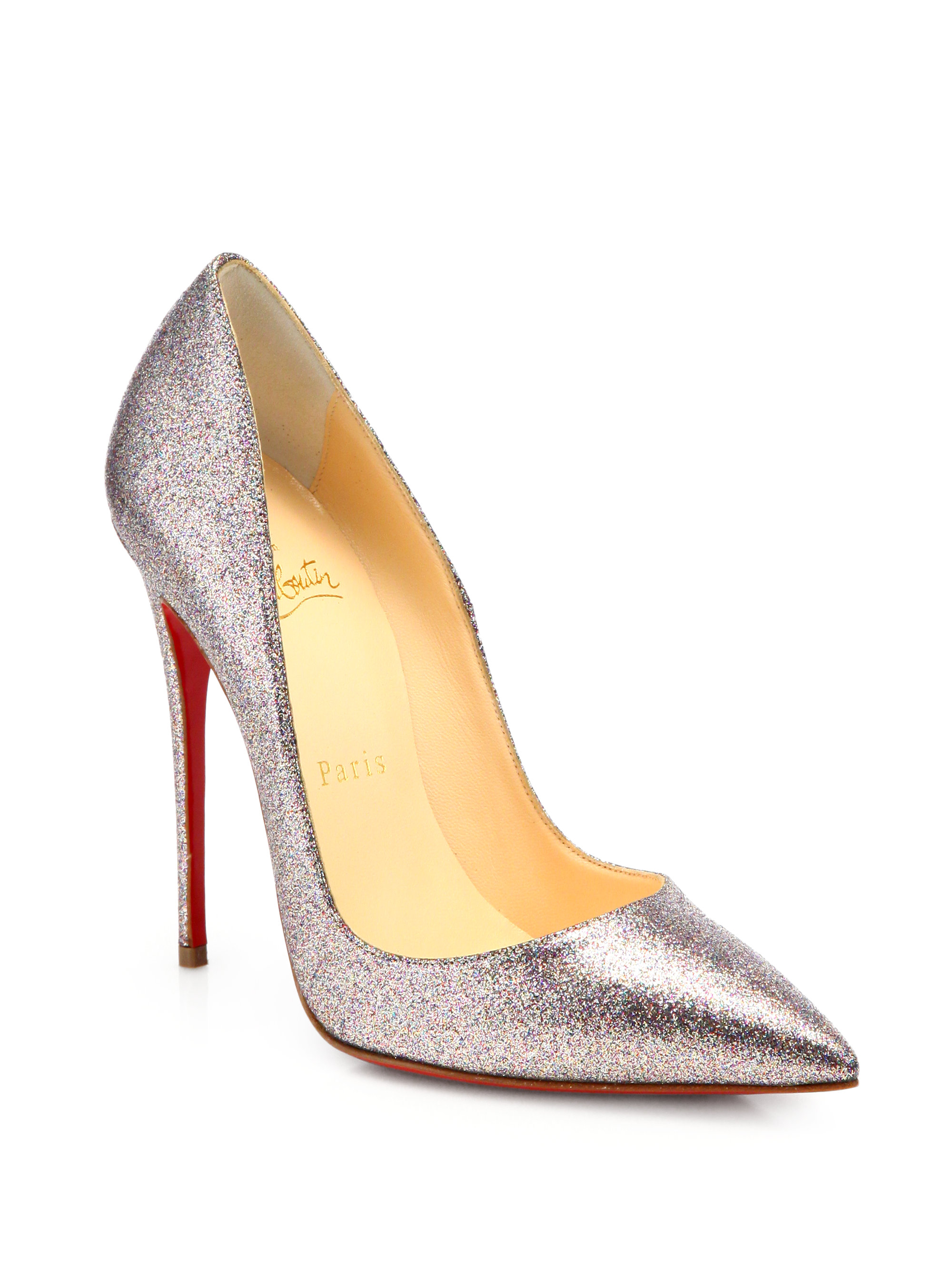 christian louboutin glitter pigalle pumps, red bottom ...