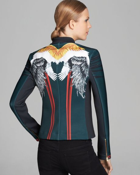 Clover Canyon Jacket Wing Zip In Black Green Lyst