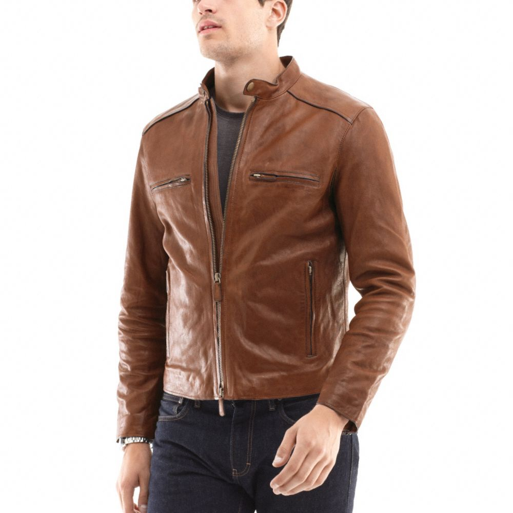 Coach Bleecker Leather Racer In Brown For Men Lyst