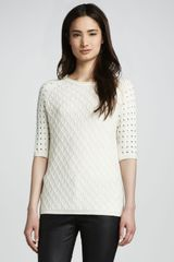 Cut25 Sweater with Eyelet Sleeves - Lyst