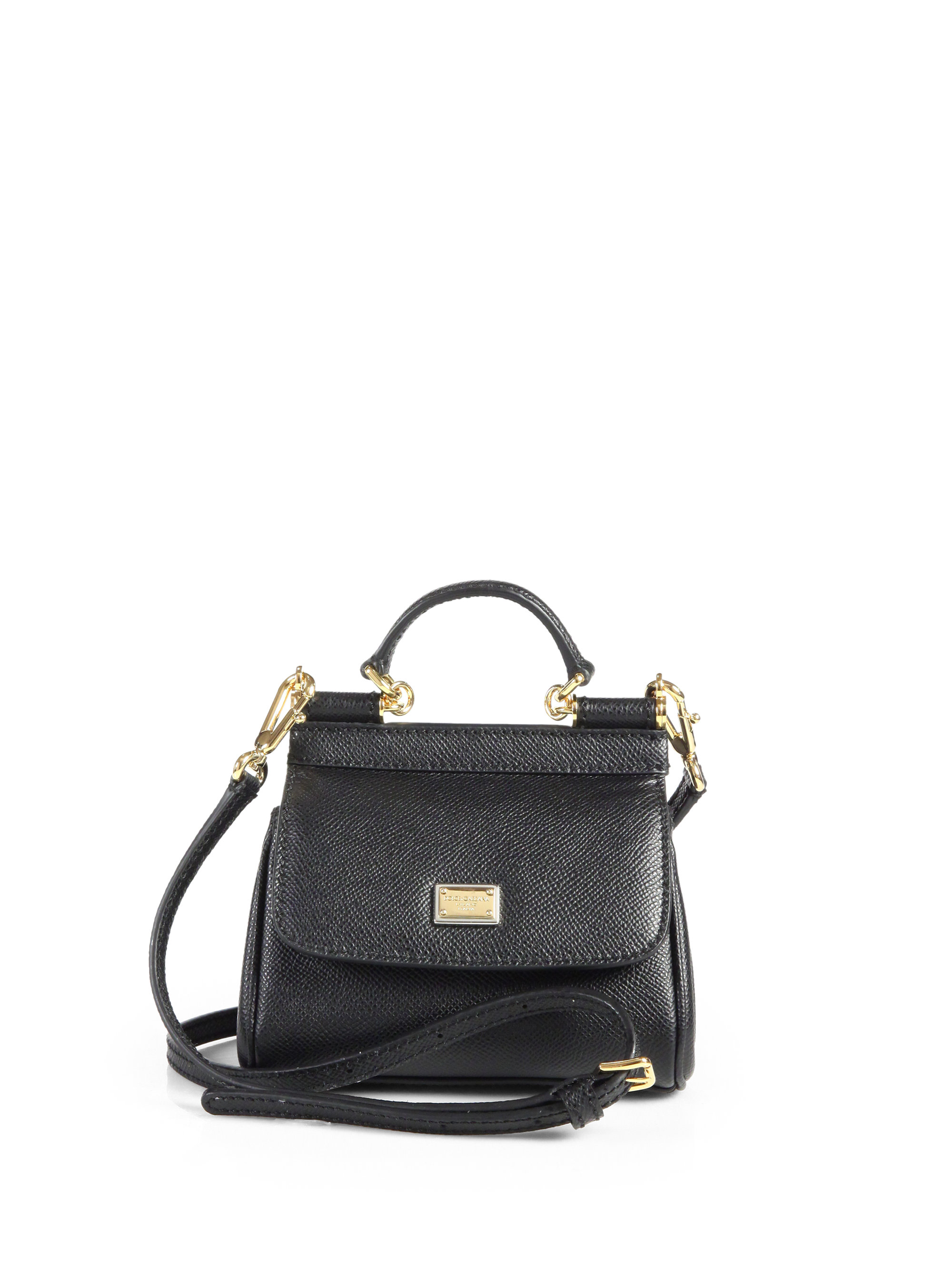 Lyst - Dolce   Gabbana Mini Miss Sicily Cross Body Bag in Black 0bee479a4f