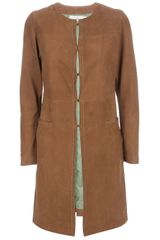 Golden Goose Deluxe Brand De Nimes Leather Coat - Lyst