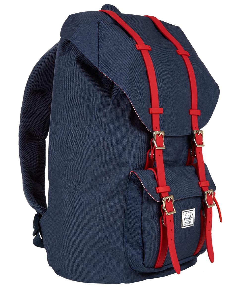 Herschel Supply Co. Navy Little America Rubber Backpack in Blue for ... e8e2040567c08