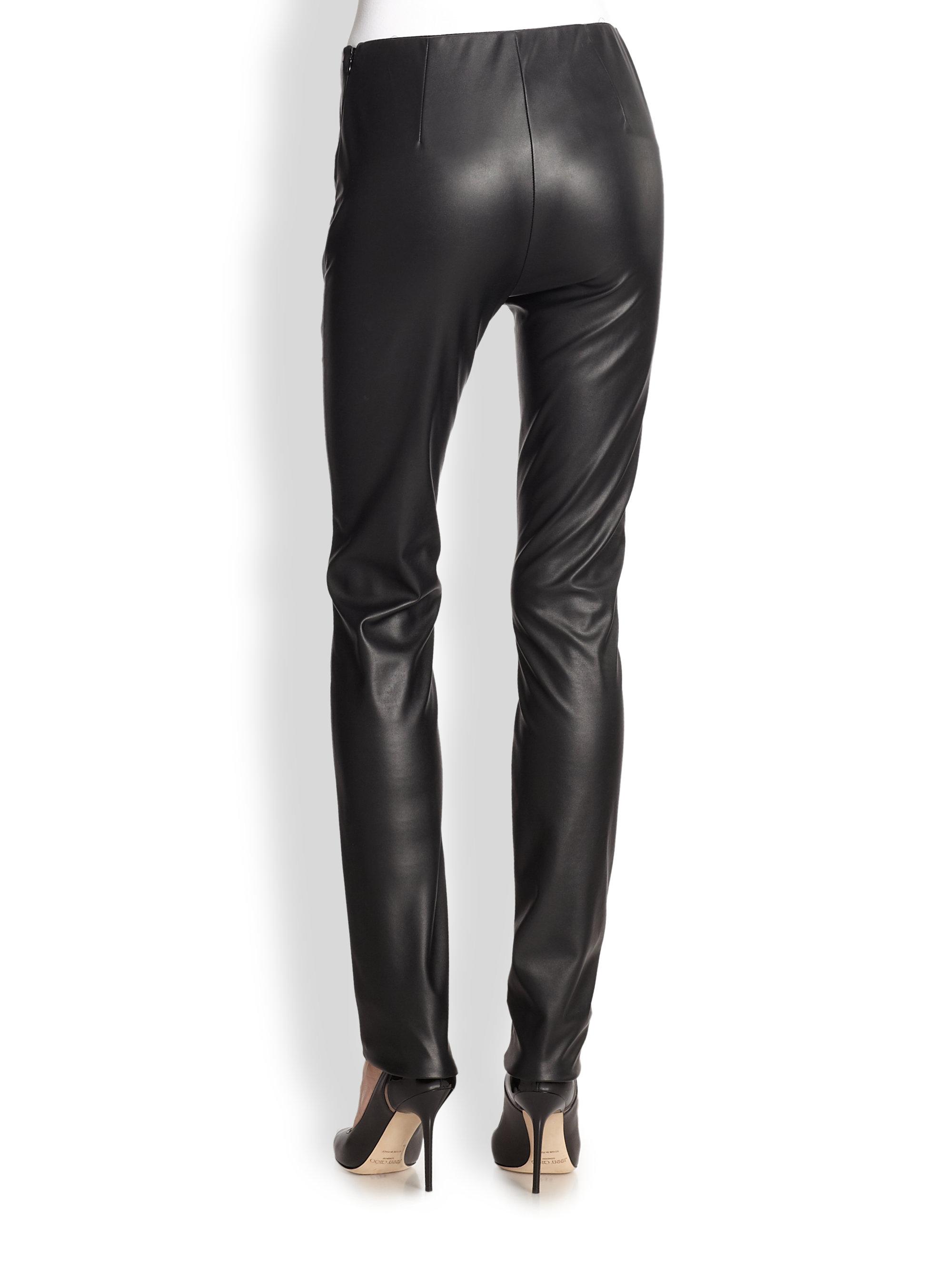 M missoni Leatherette Leggings in Black