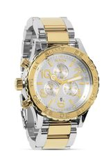 Nixon The 4220 Chrono Two Tone Watch 42mm - Lyst