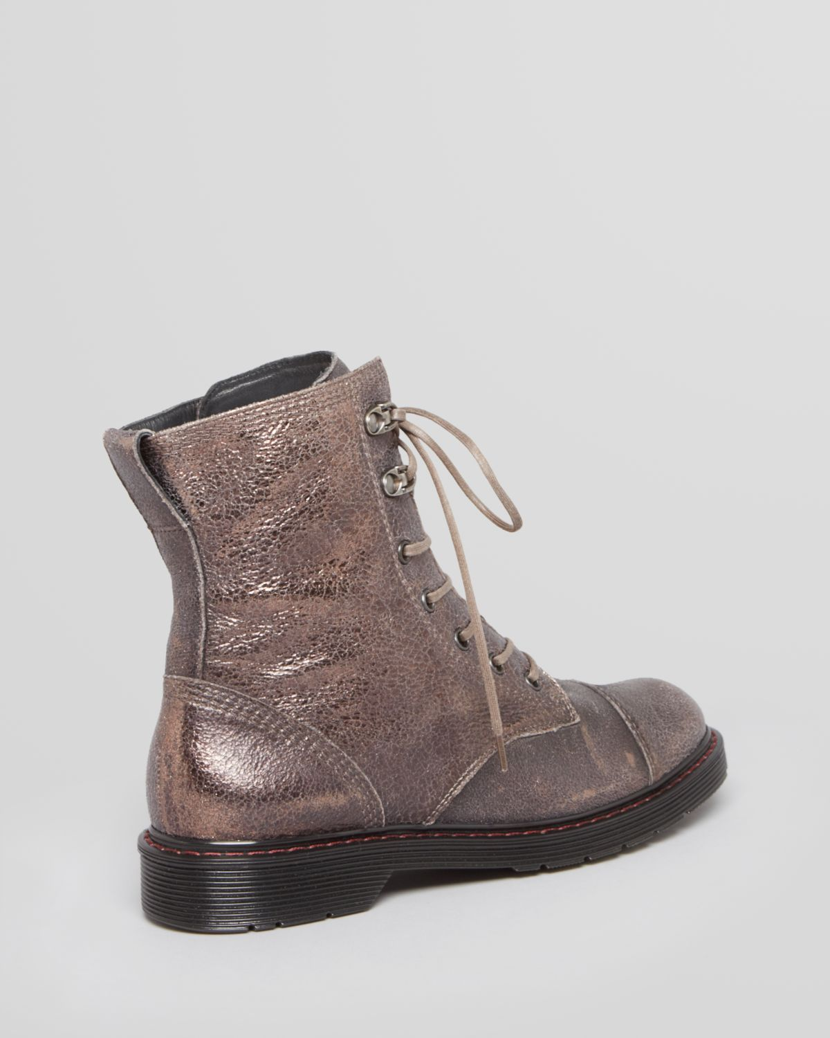 e57d2552a0e95 Lyst - Paul Green Lace Up Booties San Fran in Gray