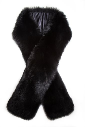 Pologeorgis Dyed Black Fox Scarf - Lyst