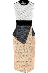 Proenza Schouler Embroidered Laser Cut Lace Dress - Lyst