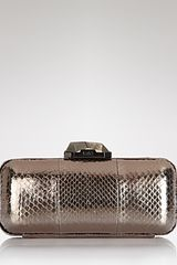 Rafe New York Clutch Demi Water Snake Box - Lyst