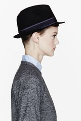 Rag & Bone Black Felted Wool Connolly Fedora - Lyst