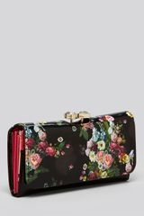 Ted Baker Wallet Oil Blossom in Black - Lyst