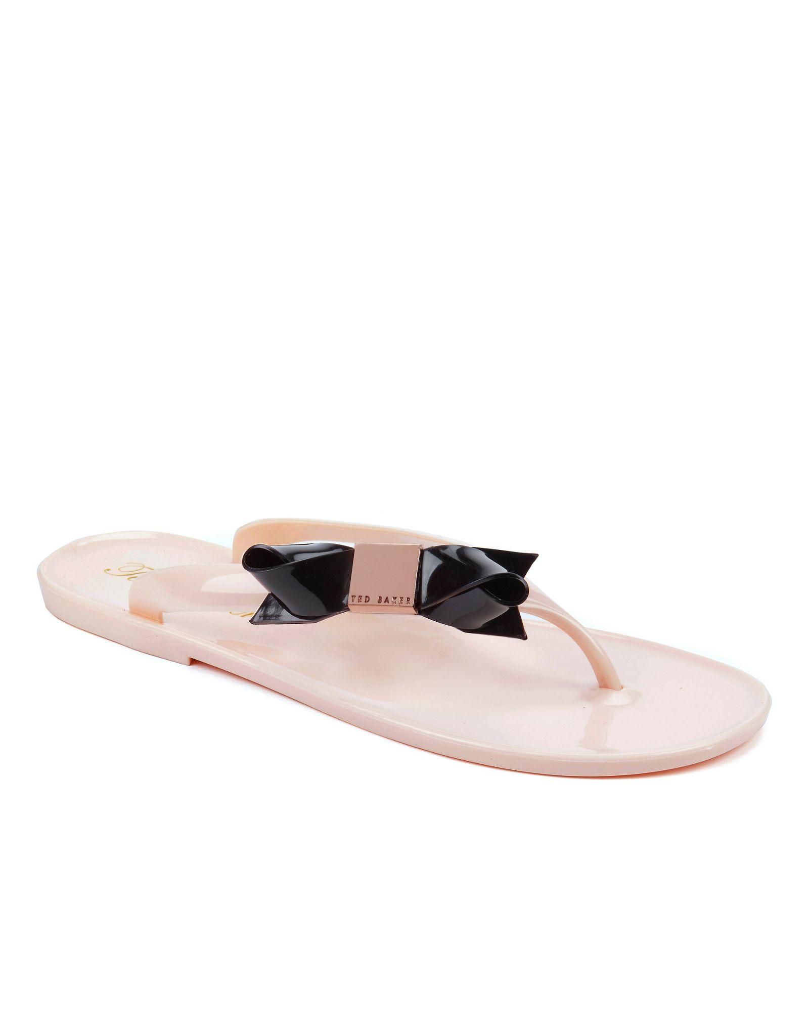 99498311d5d00 Ted Baker Polee Bow Flip Flop in Black - Lyst