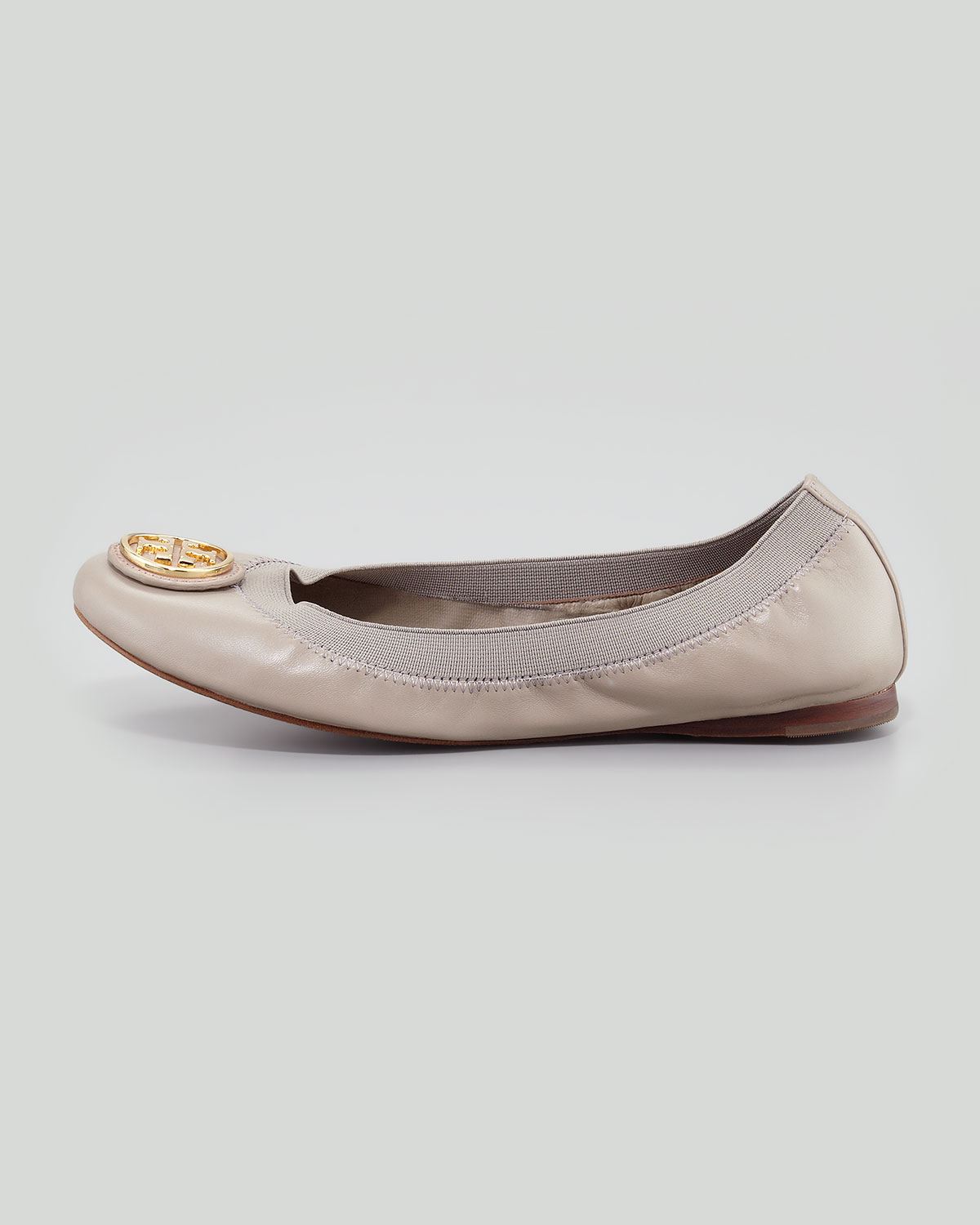 75ab79f20c52 Lyst - Tory Burch Caroline 2 Leather Stretch Ballerina Flats Dust ...