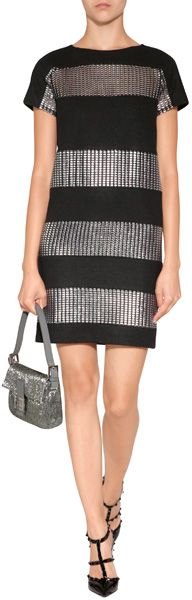 Paco Rabanne Wool Dress in Black - Lyst