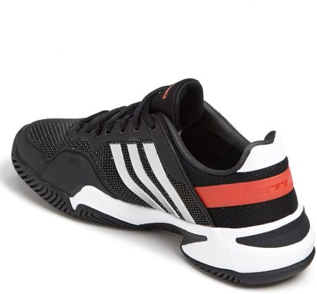 adidas adipower barricade 8 tennis shoes in black for