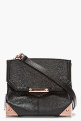 Alexander Wang Black Leather and Rose Gold Marion Shoulder Bag - Lyst