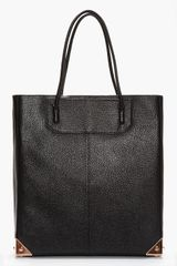 Alexander Wang Black Leather and Rose Gold Prisma Tote - Lyst