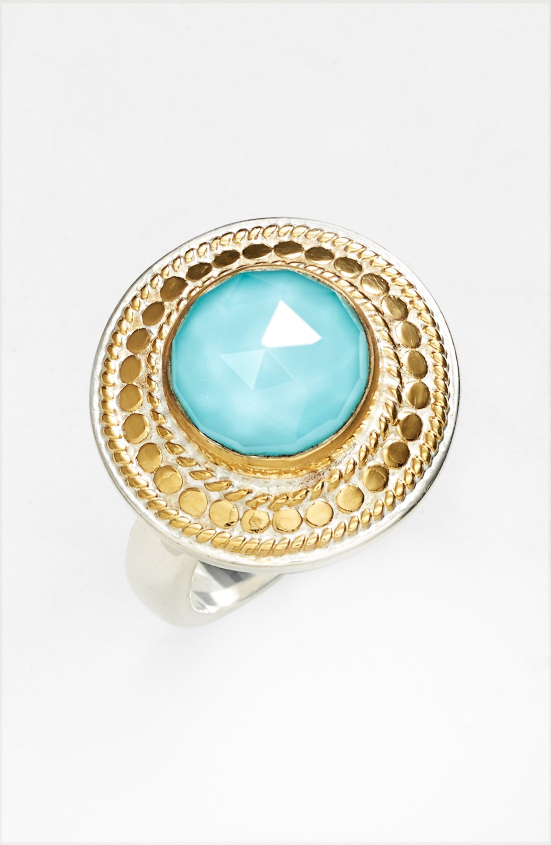 Lyst Anna Beck Gili Wire Rimmed Stone Ring In Metallic