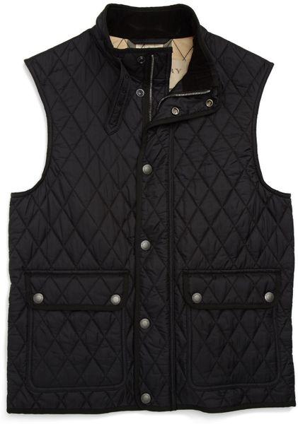 Burberry Brit Haymarket Quilted Vest in Black for Men | Lyst