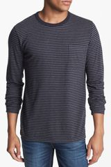 French Connection Orienteering Stripe Long Sleeve T-shirt - Lyst
