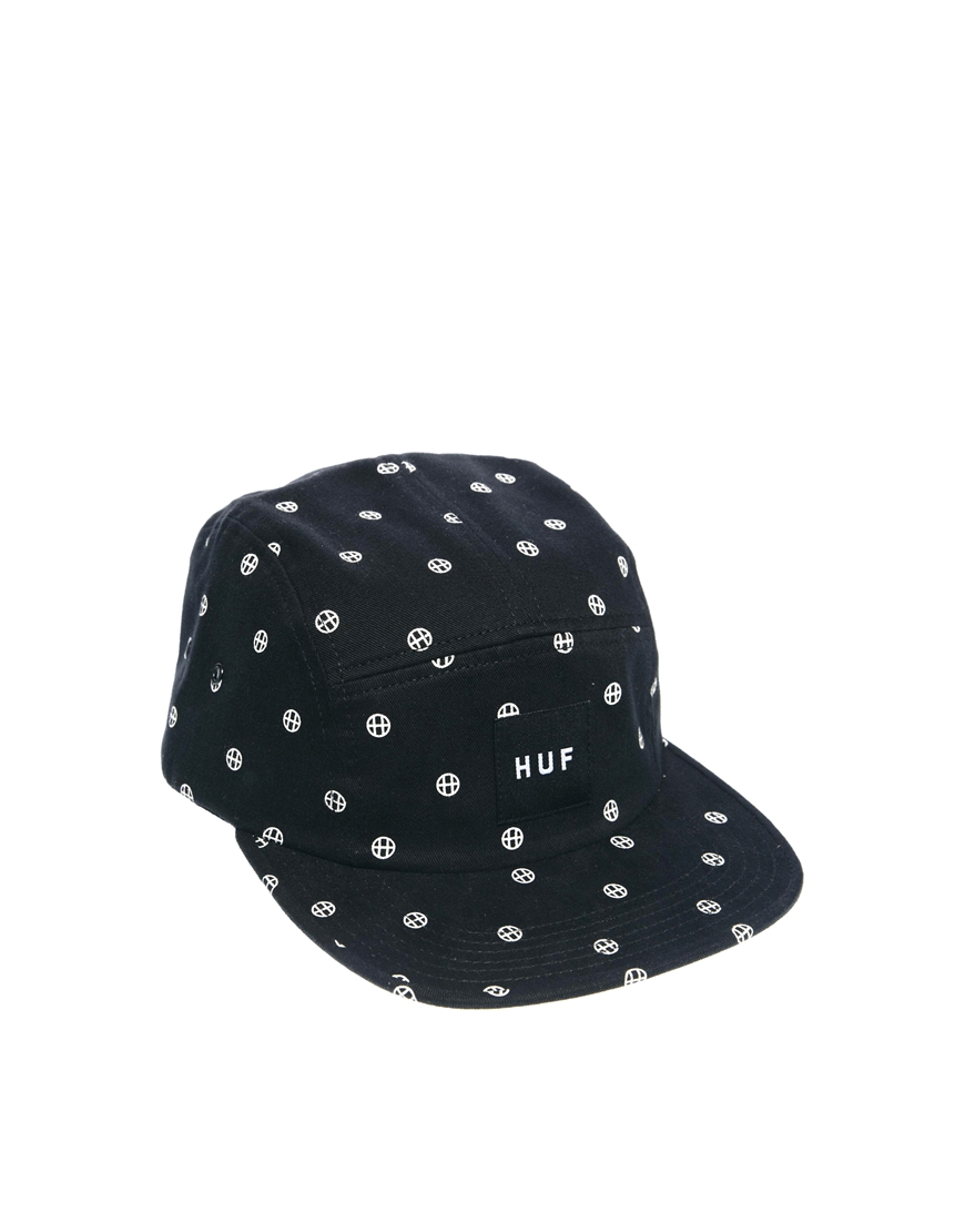 Lyst - Huf Circle Volley 5 Panel Cap in Black for Men 7defe96e2c0