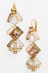 Kate Spade Baguette Bridal Linear Chandelier Earrings - Lyst