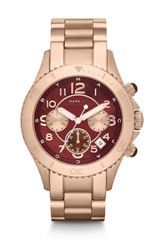 Marc By Marc Jacobs Rose Goldtone Stainless Steel Chronograph Watch - Lyst