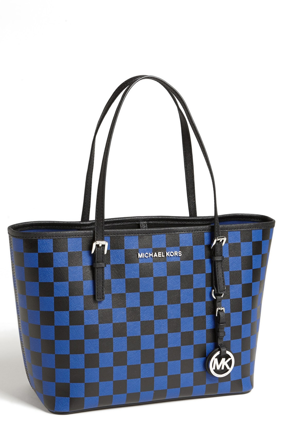 michael by michael kors jet set small travel tote in blue. Black Bedroom Furniture Sets. Home Design Ideas