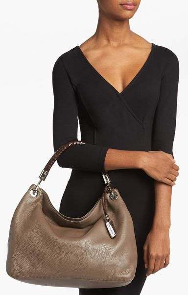 f2be845b3551 michael kors skorpios large shoulder bag black hamilton grey ...