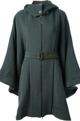 Mm6 By Maison Martin Margiela Hooded Coat - Lyst
