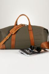Ralph Lauren Canvas Leather Duffel Bag