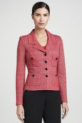 St. John Collection Fourbutton Blazer Grenadine - Lyst