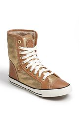 Tory Burch Benjamin High Top Sneaker - Lyst