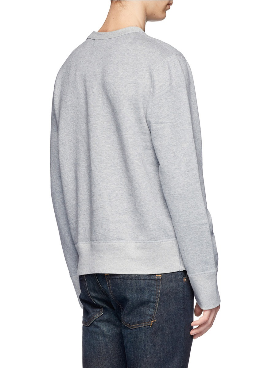 acne studios printed pullover in gray for men lyst. Black Bedroom Furniture Sets. Home Design Ideas