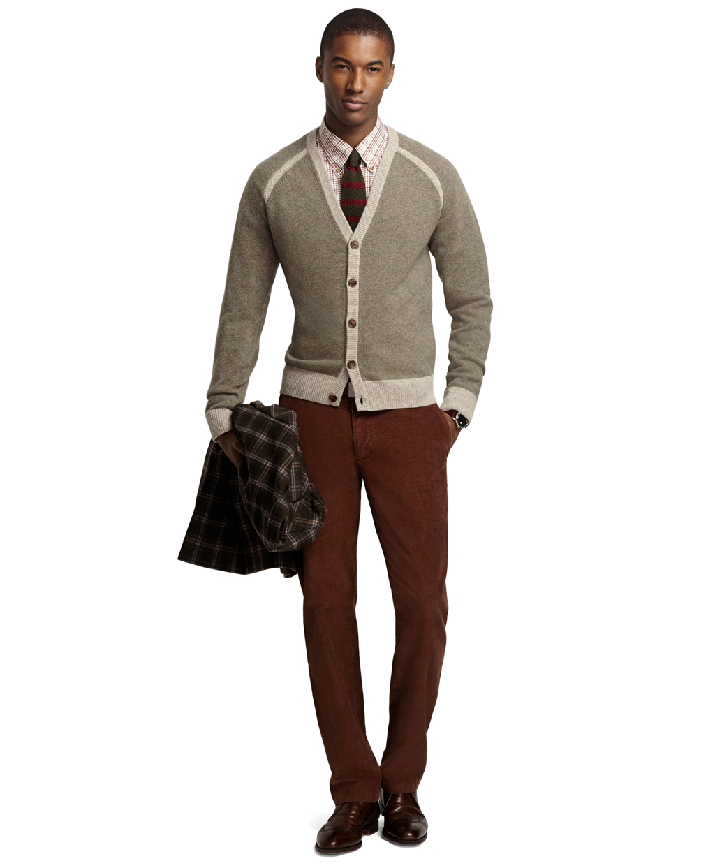 Brooks brothers Milano 14-wale Corduroy Pants in Brown for Men | Lyst