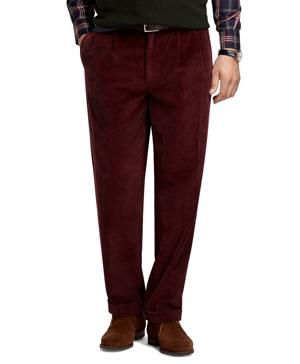 Brooks brothers Elliot 8-Wale Corduroy Pants in Purple for Men | Lyst