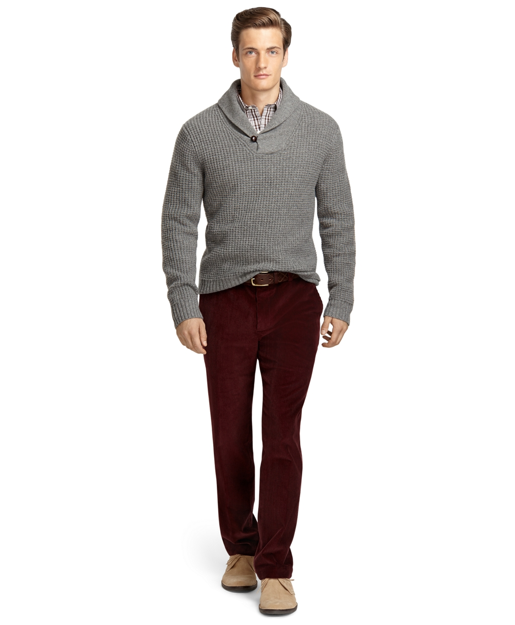 Brooks brothers Milano 8wale Corduroy Pants in Red for Men | Lyst