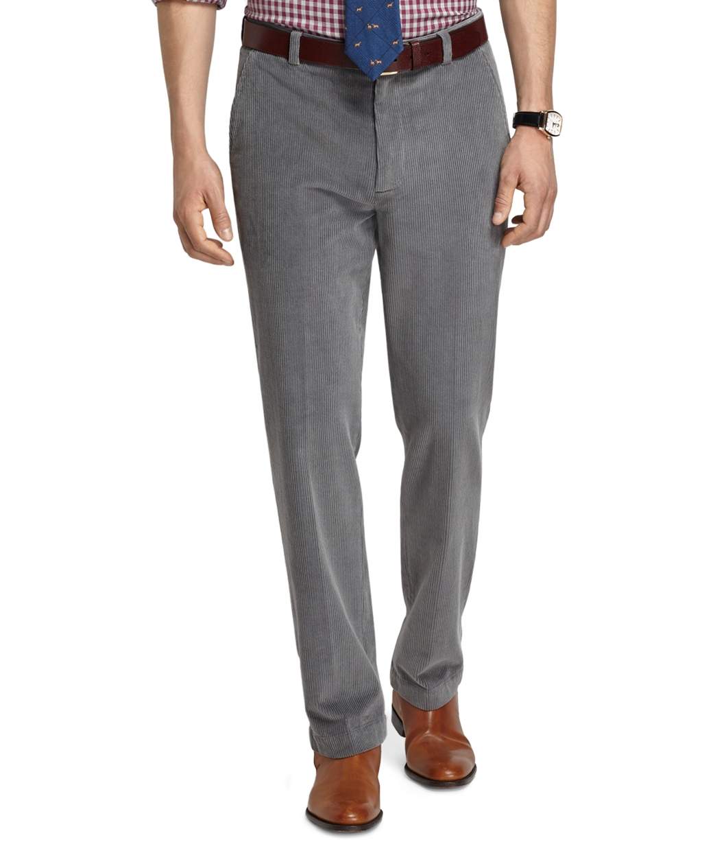 Brooks brothers Clark 8-wale Corduroy Pants in Gray for Men | Lyst