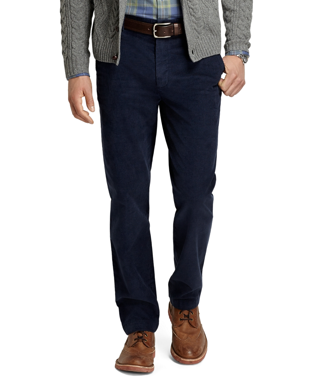 Brooks brothers Clark 14wale Corduroy Pants in Blue for Men | Lyst