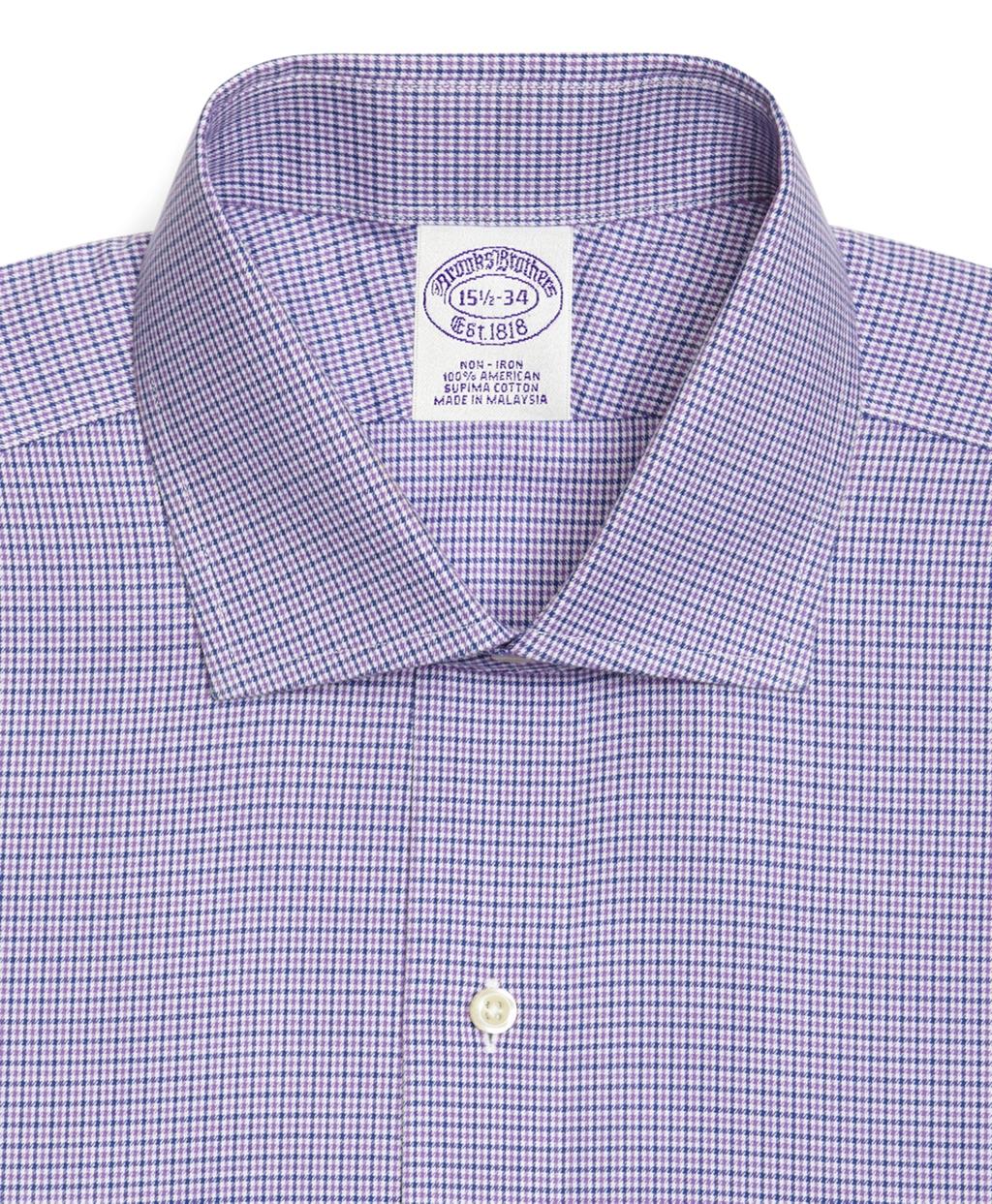 Brooks brothers supima cotton noniron extraslim fit spread for Supima cotton dress shirts