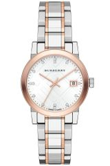 Burberry Womens Swiss Diamond Accent Two-tone Stainless Steel Bracelet 34mm - Lyst